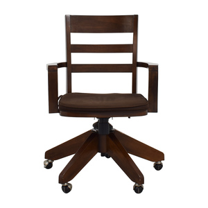 Pottery Barn Pottery Barn Wooden Swivel Desk Chair second hand