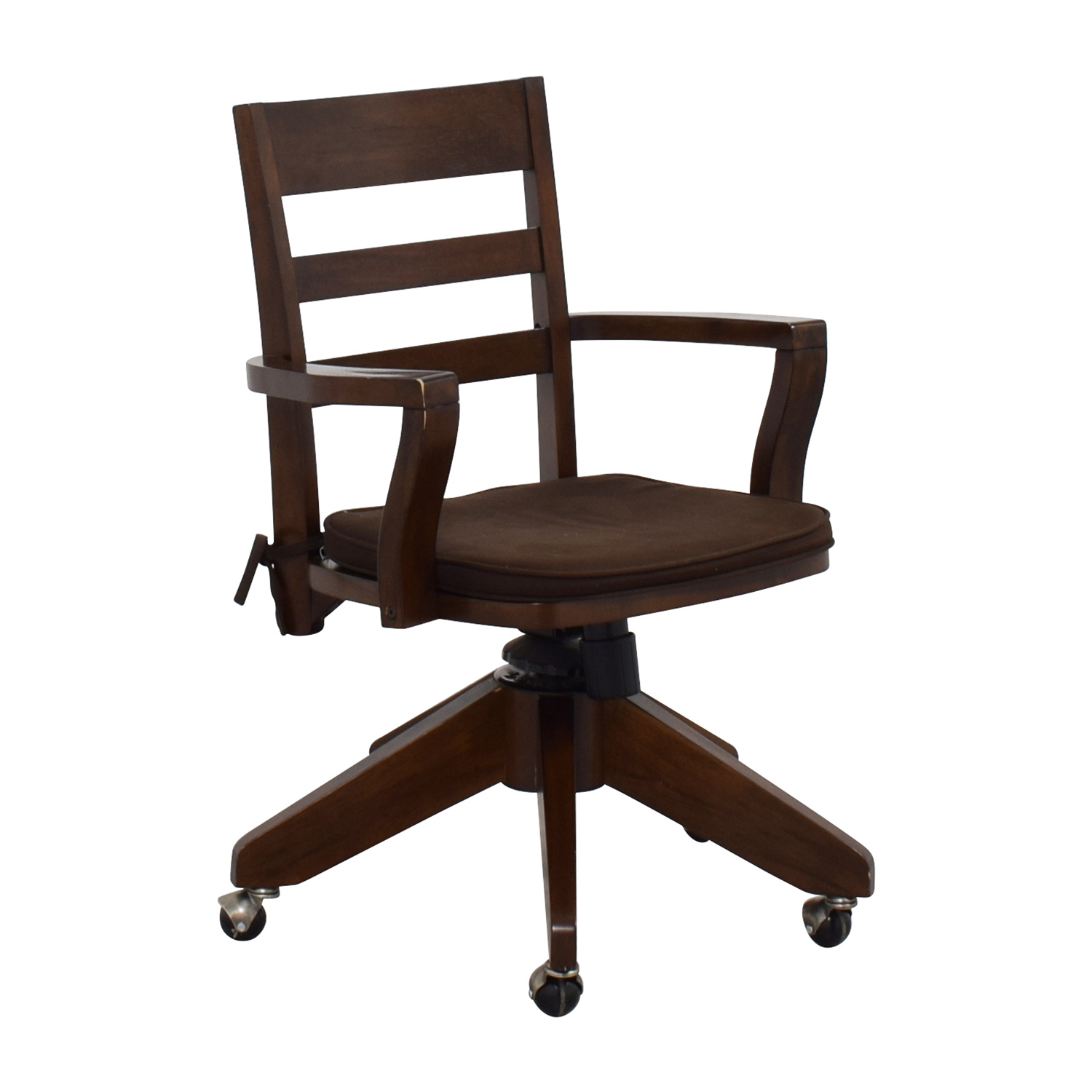 Pottery Barn Easy Chairs: Pottery Barn Pottery Barn Wooden Swivel Desk