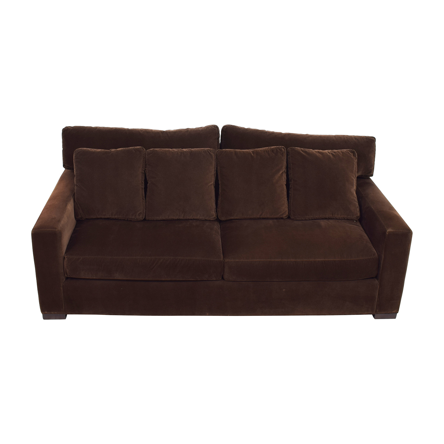 Crate and  Barrel Crate & Barrel Axis II Brown Velvet Sofa for sale