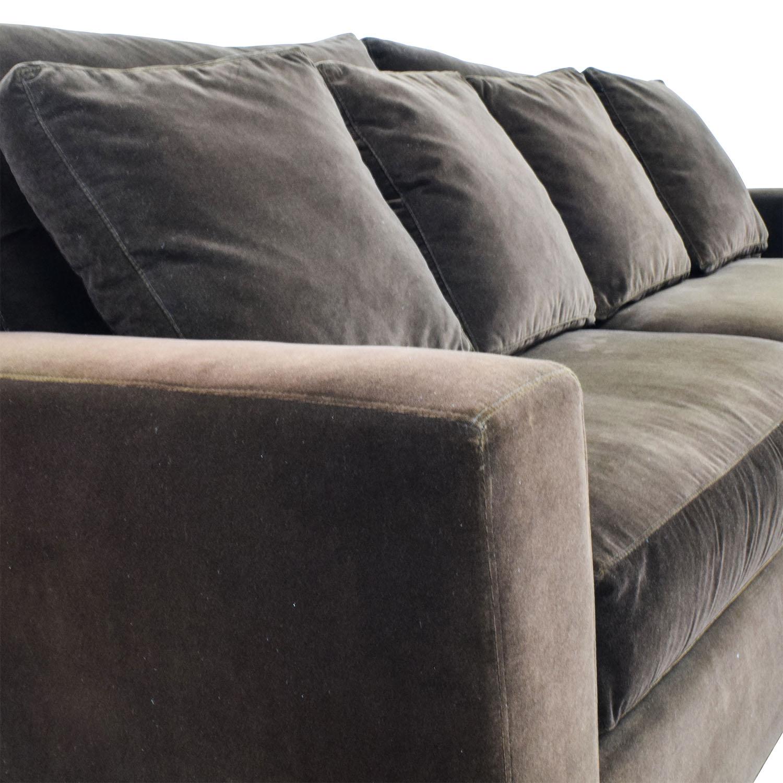 Super 78 Off Crate Barrel Crate Barrel Axis Ii Brown Velvet Sofa Sofas Andrewgaddart Wooden Chair Designs For Living Room Andrewgaddartcom