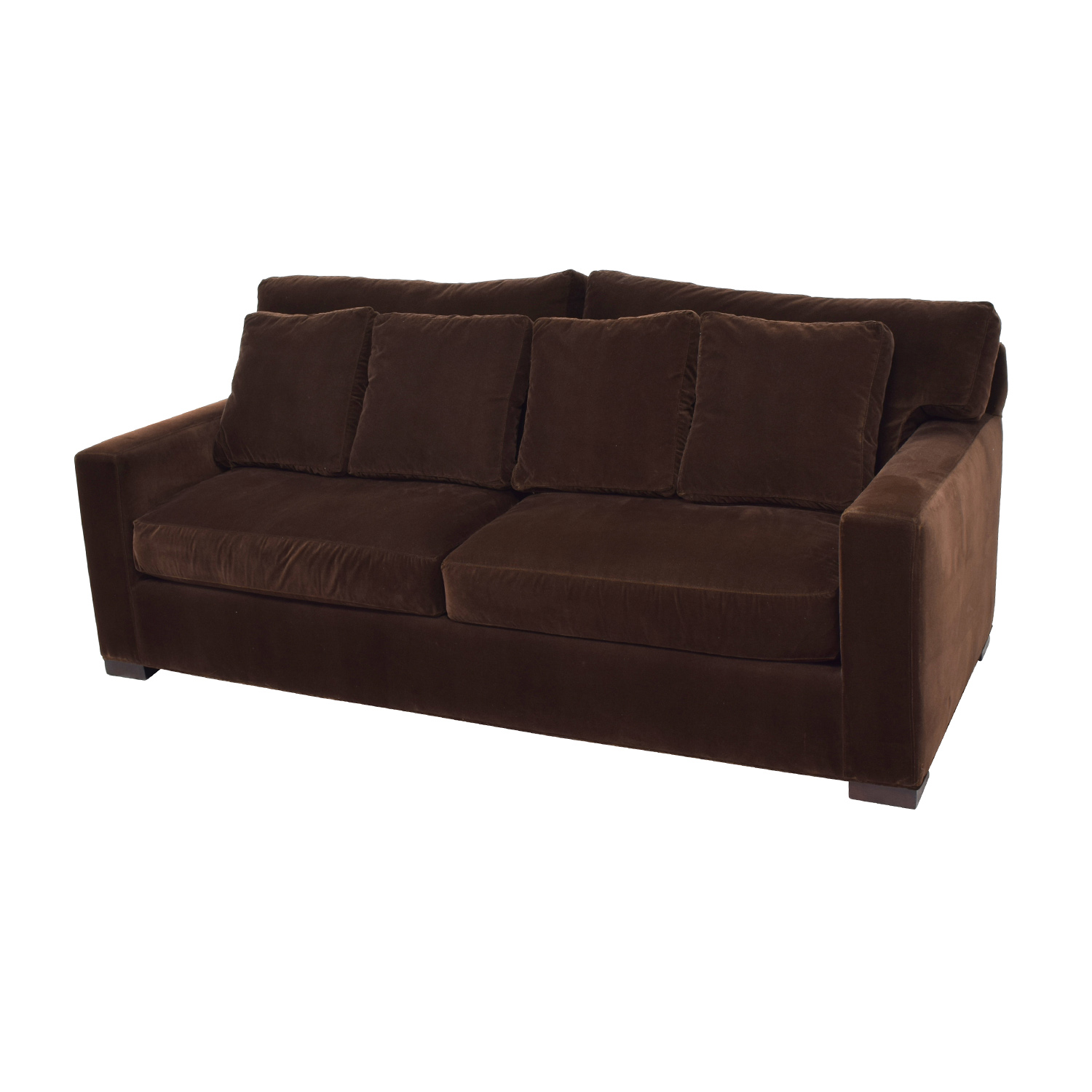 78 off crate and barrel crate barrel axis ii brown velvet sofa sofas. Black Bedroom Furniture Sets. Home Design Ideas