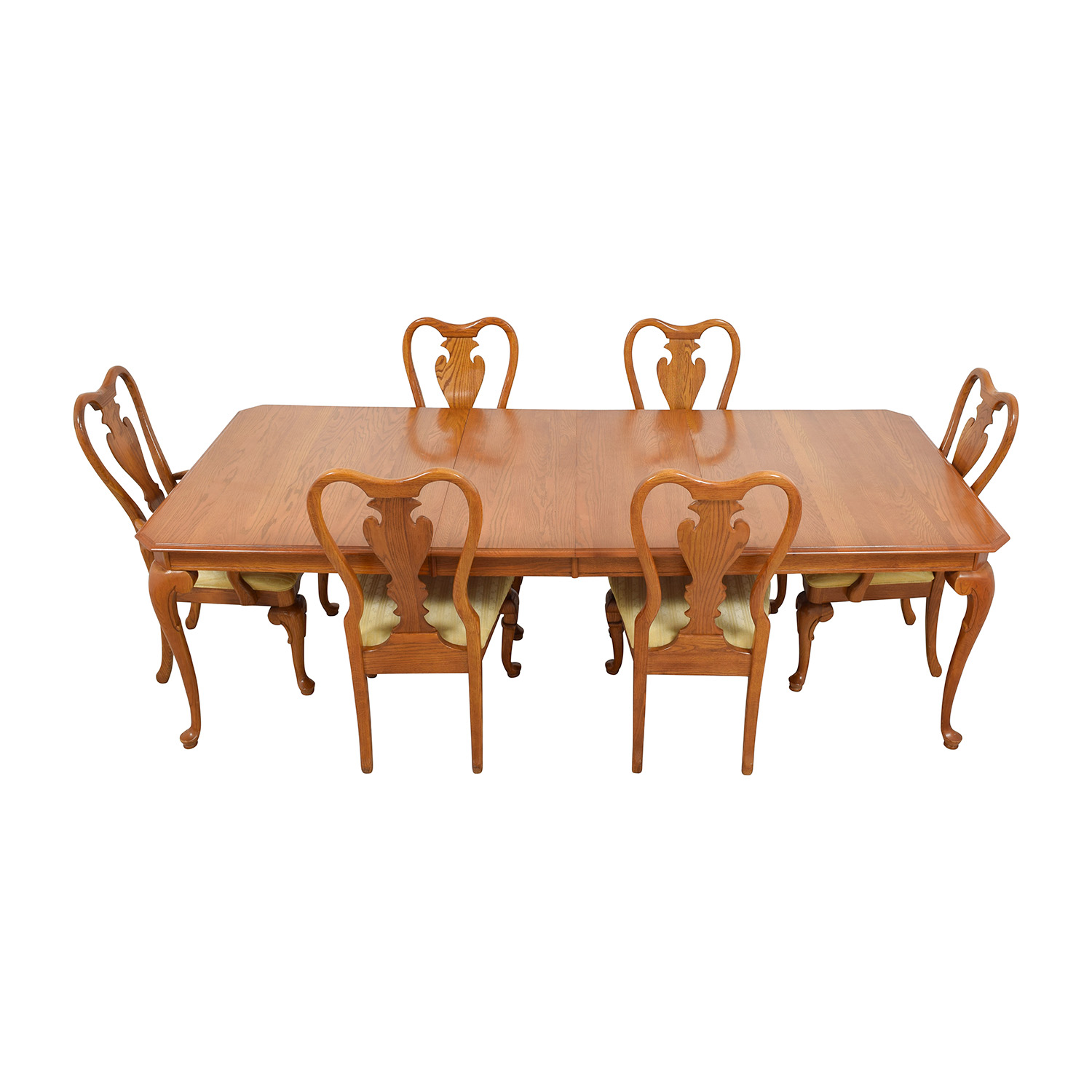 Classic Six-Piece Wooden Dining Set dimensions