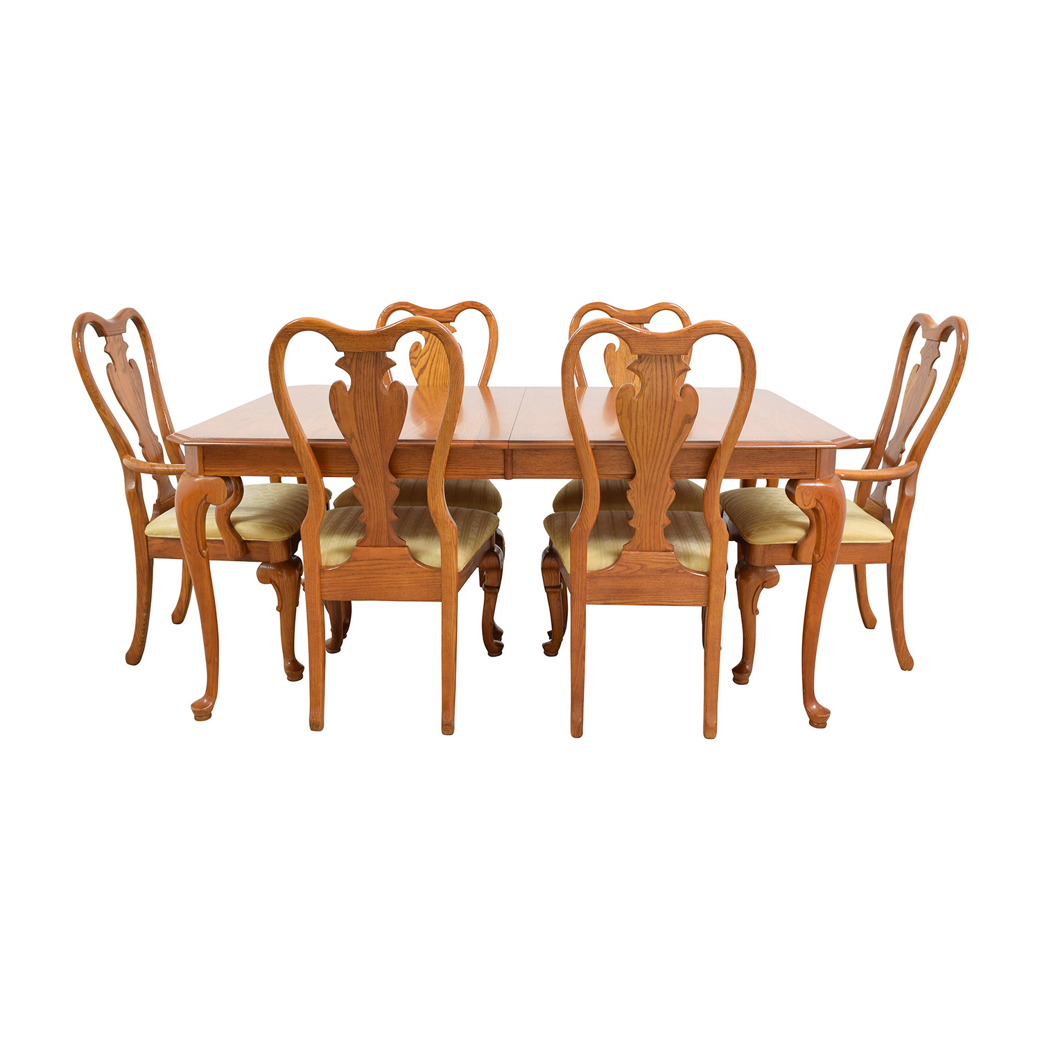 Classic Six-Piece Wooden Dining Set Tables