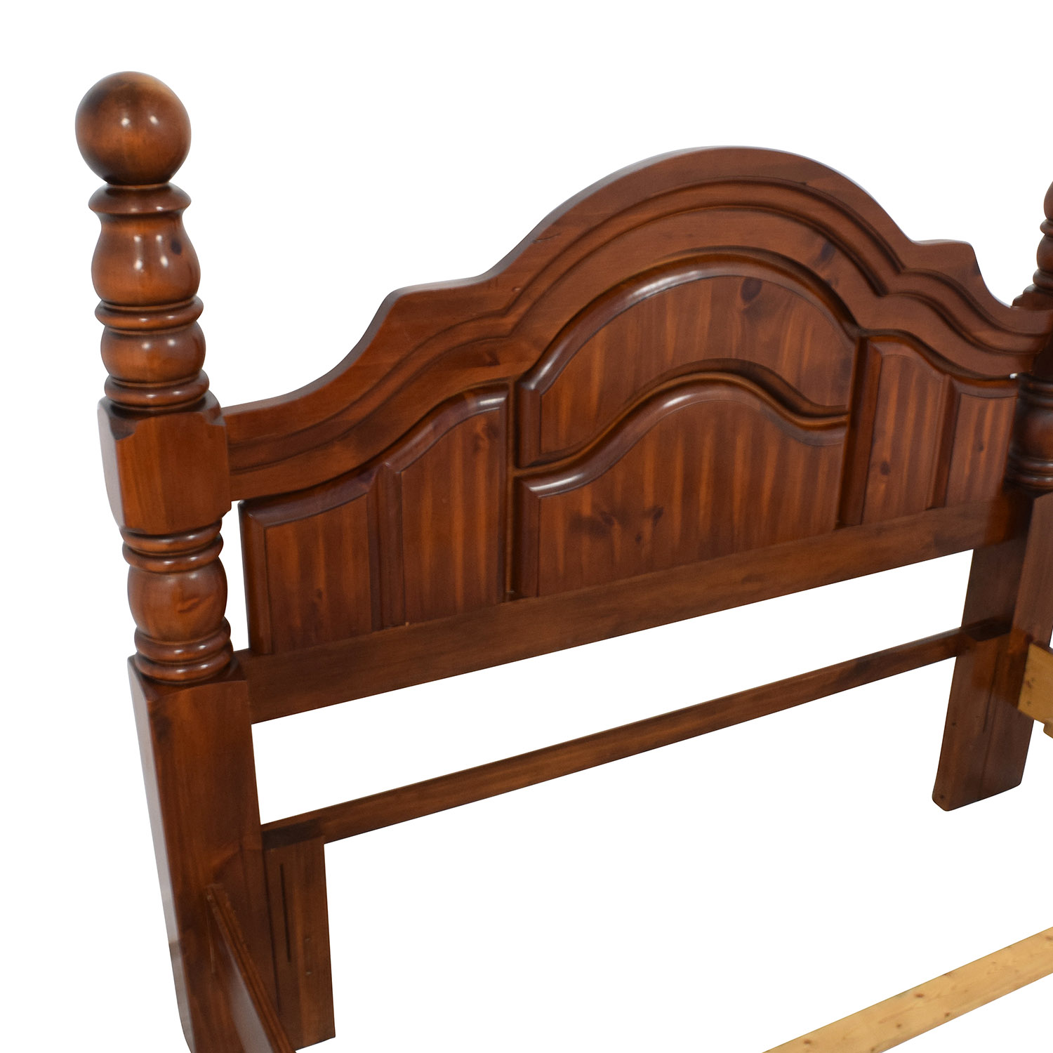 Wood Mini Four Poster Queen Bed Frame Beds