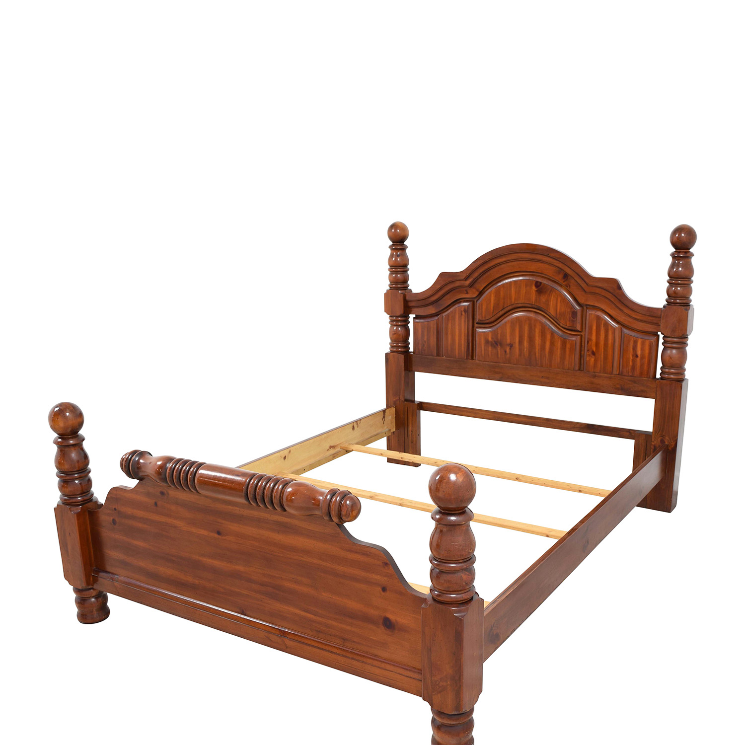 Wood Mini Four Poster Queen Bed Frame