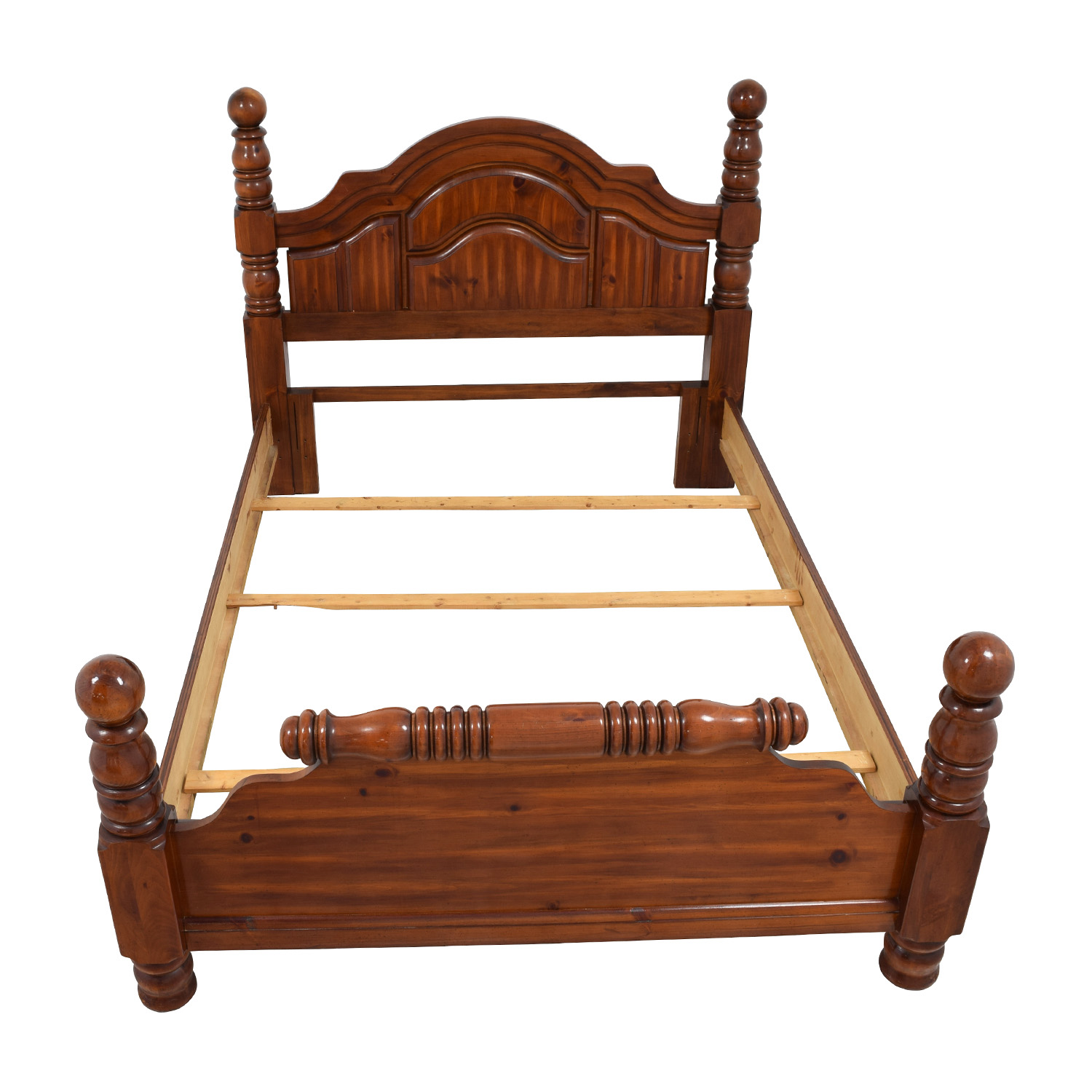Wood Mini Four Poster Queen Bed Frame discount