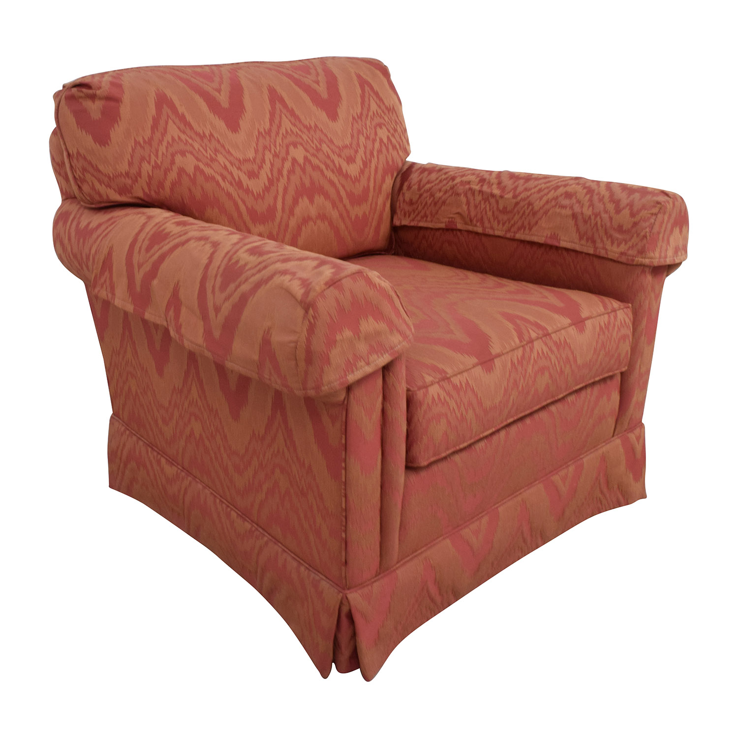 buy Sherrill Orange and Red Patterned Accent Chair Sherrill