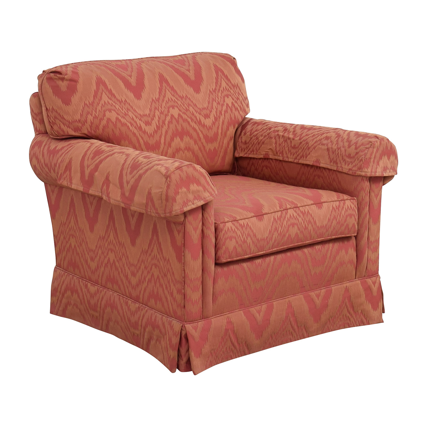 buy Sherrill Orange and Red Patterned Accent Chair Sherrill Accent Chairs