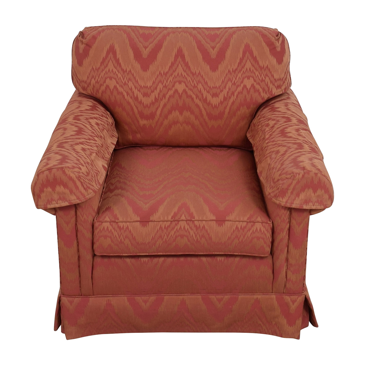 shop Sherrill Orange and Red Patterned Accent Chair Sherrill Chairs