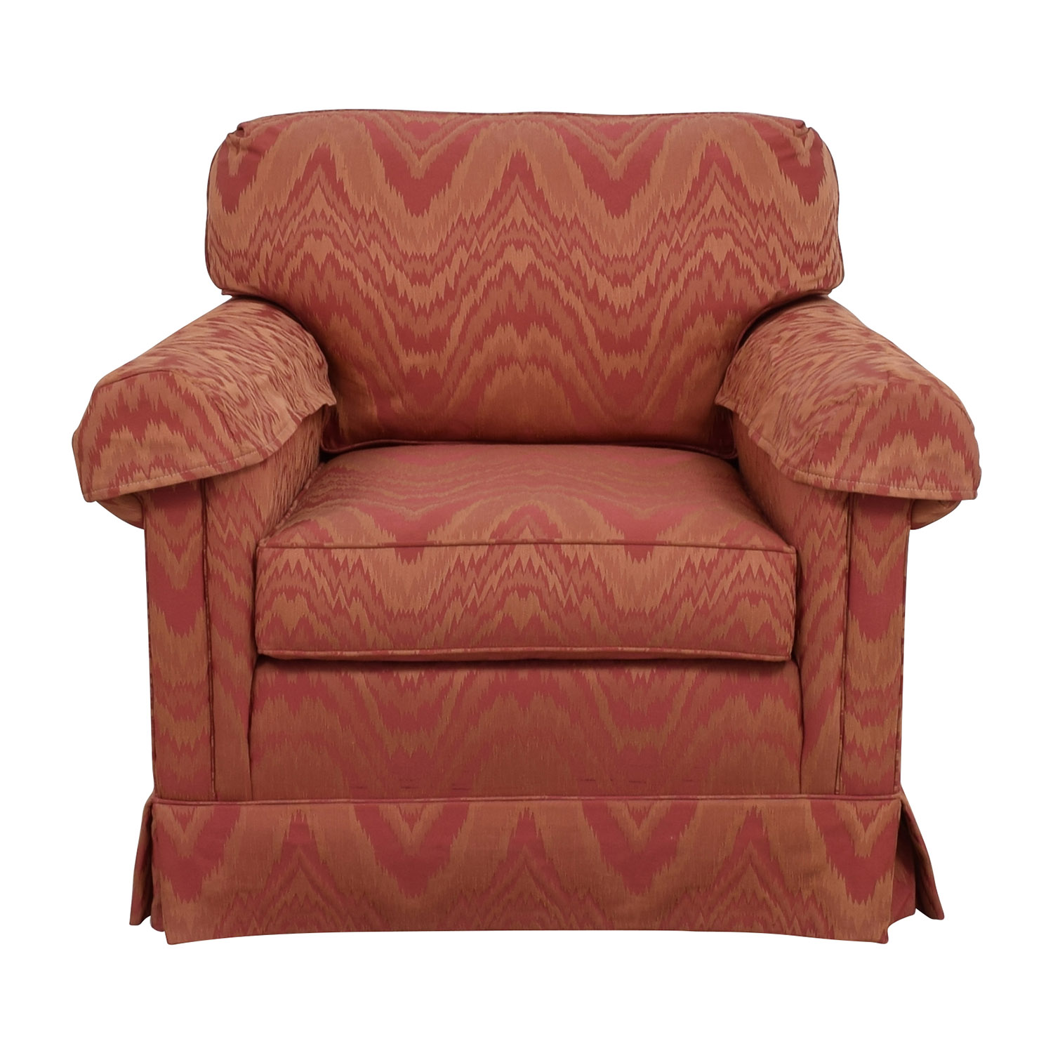 Sherrill Sherrill Orange and Red Patterned Accent Chair used