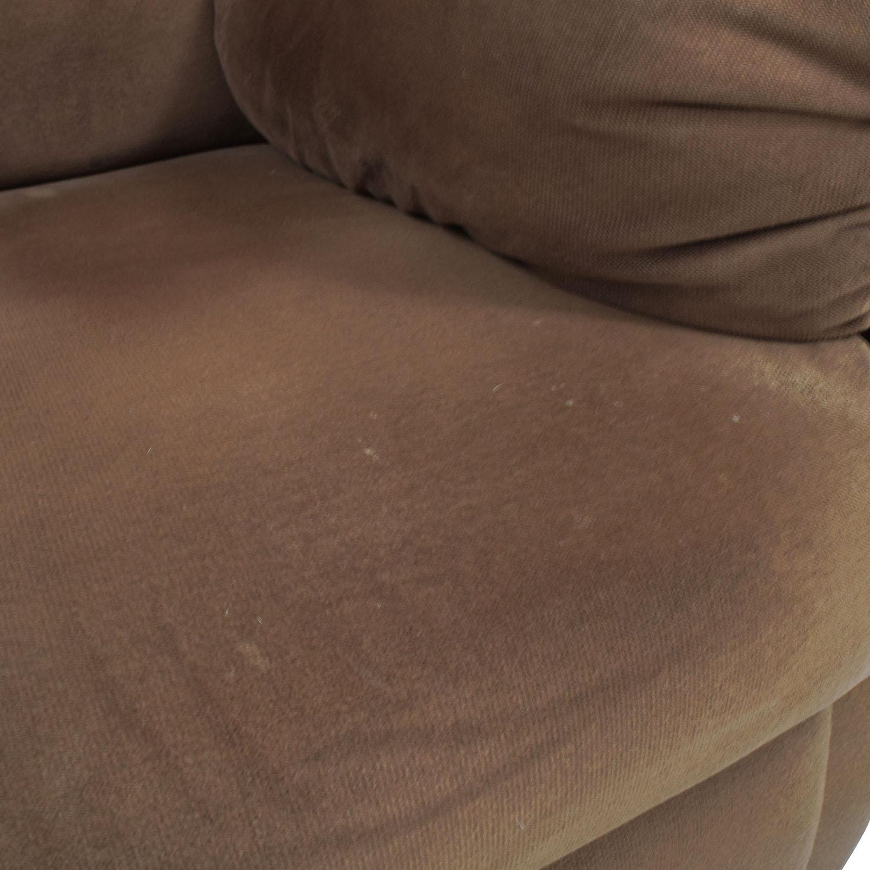 Brown Plush Recliner price