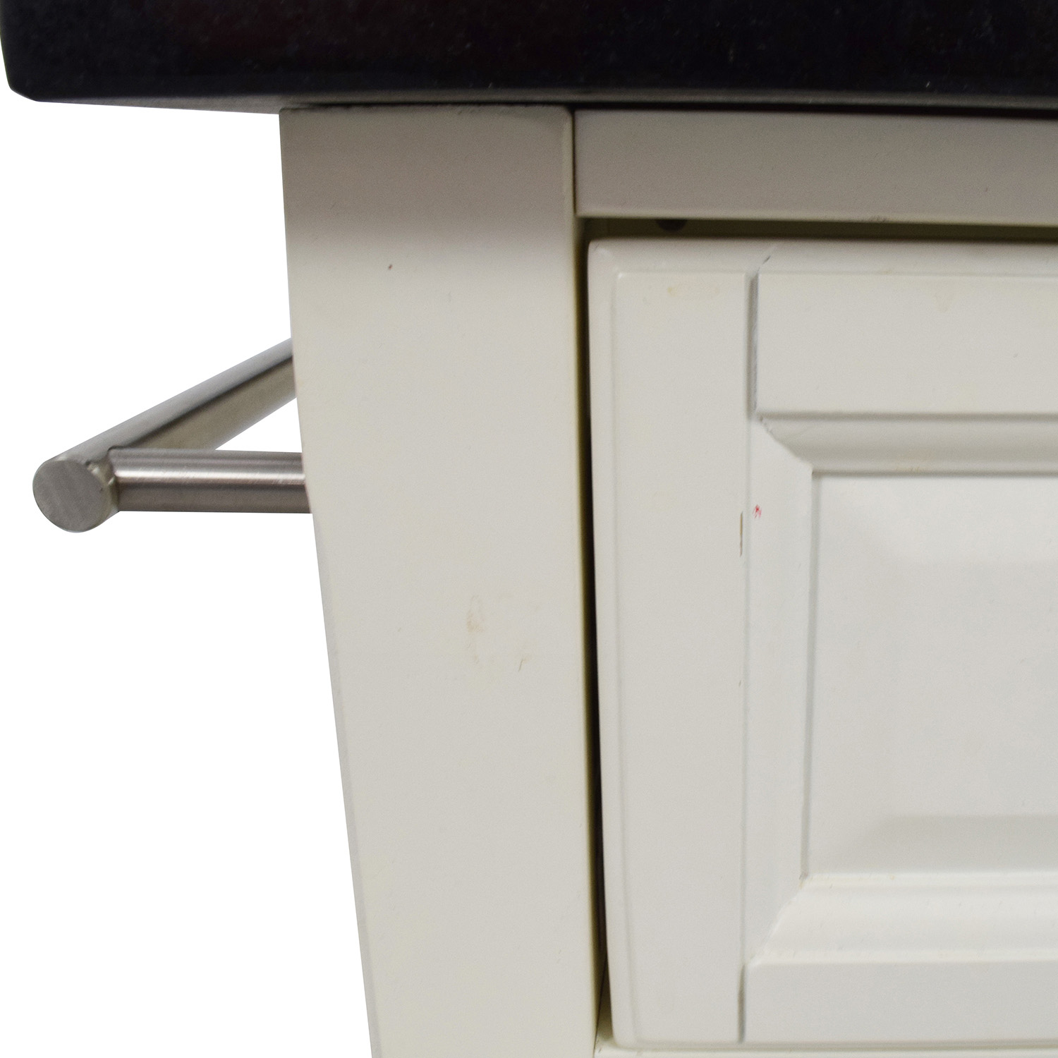 Crosley Furniture White Kitchen Island Counter on Castors / Utility Tables