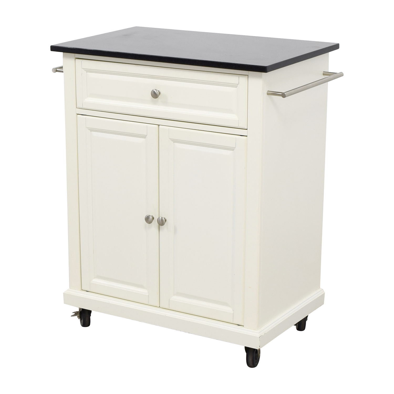 buy Crosley Furniture Crosley Furniture White Kitchen Island Counter on Castors online