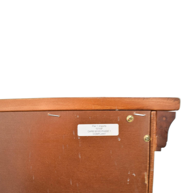 buy Pier 1 Six-Drawer Brown Dresser Pier 1