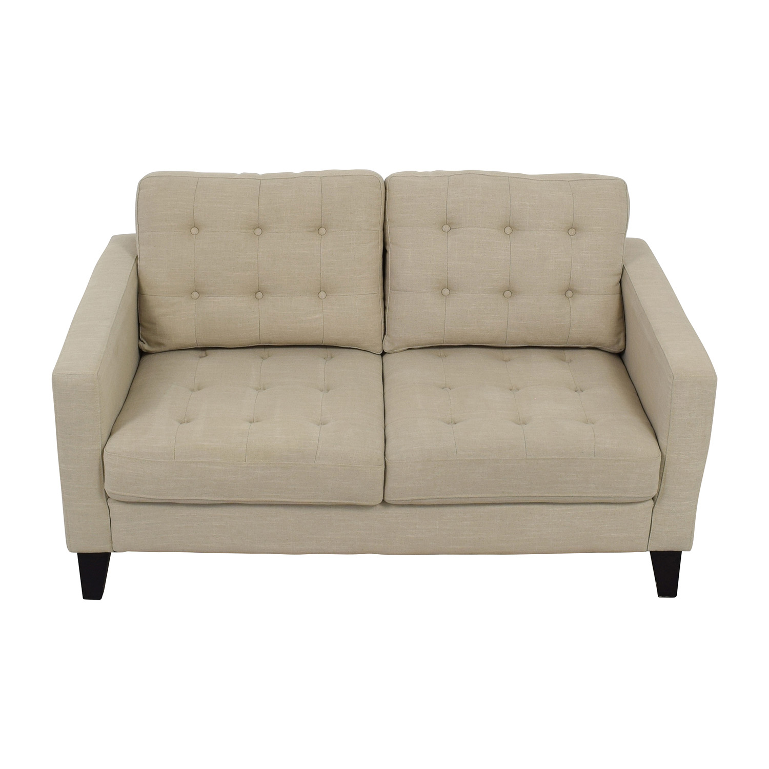 shop Pier 1 Imports Putty Tan Tufted Loveseat Pier 1 Imports Classic Sofas