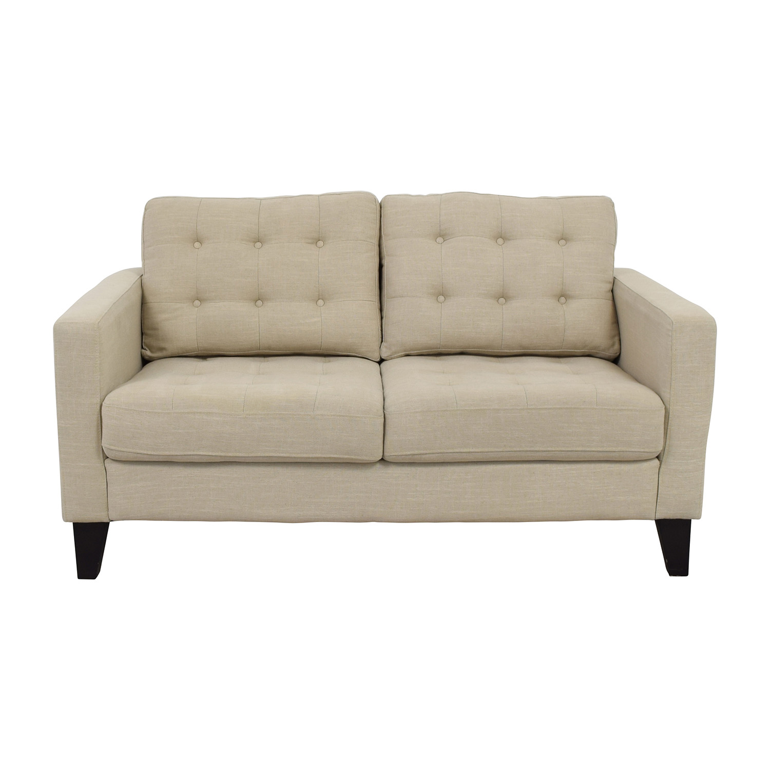 loveseat of brown button tufted light products shades century mid