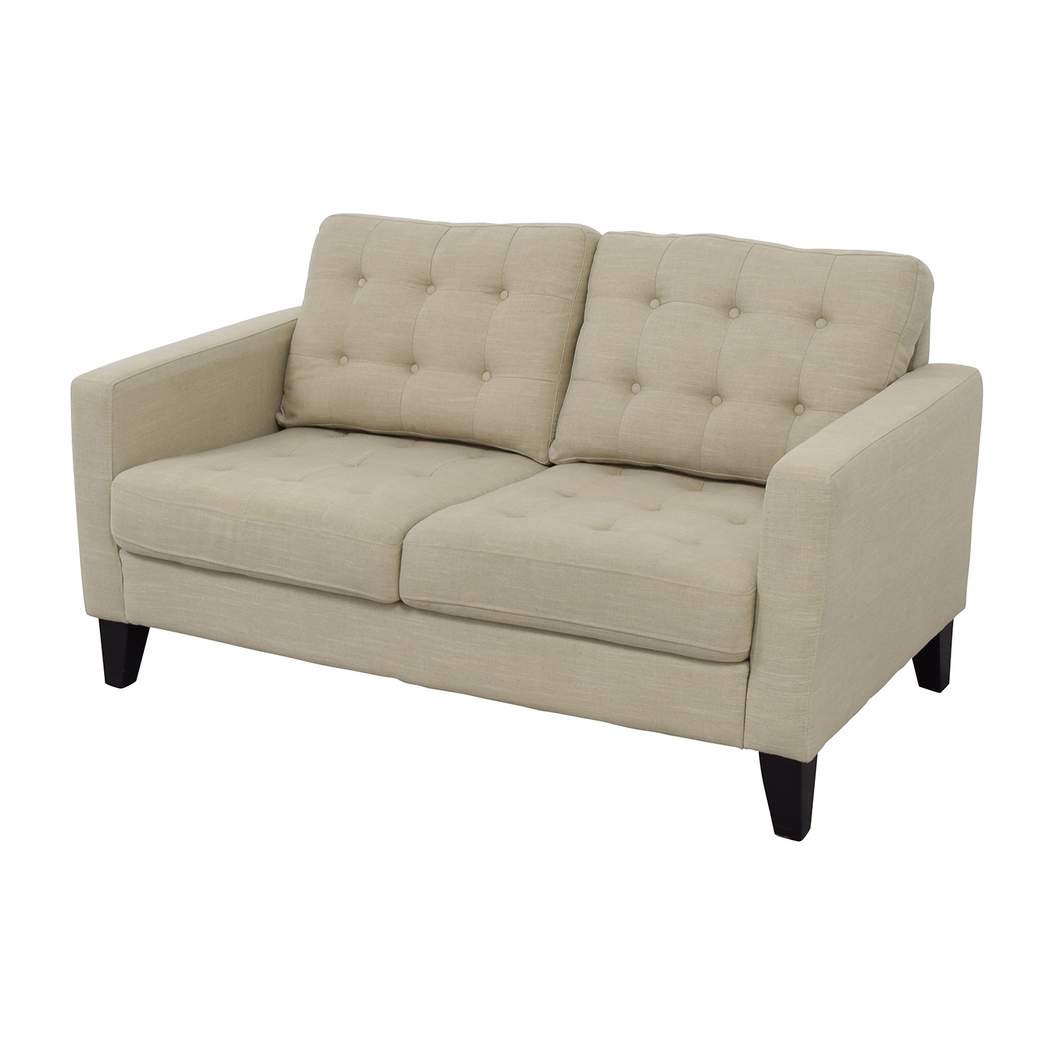 32 off pier 1 imports pier 1 imports putty tan tufted for Classic loveseat