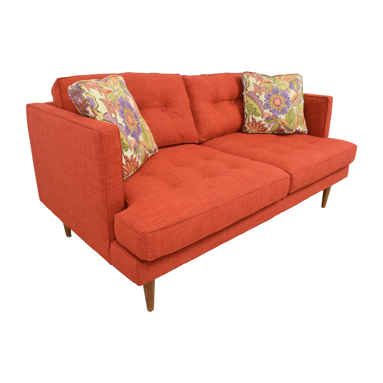 West Elm Mid-Century Heathered Weave Sofa / Classic Sofas