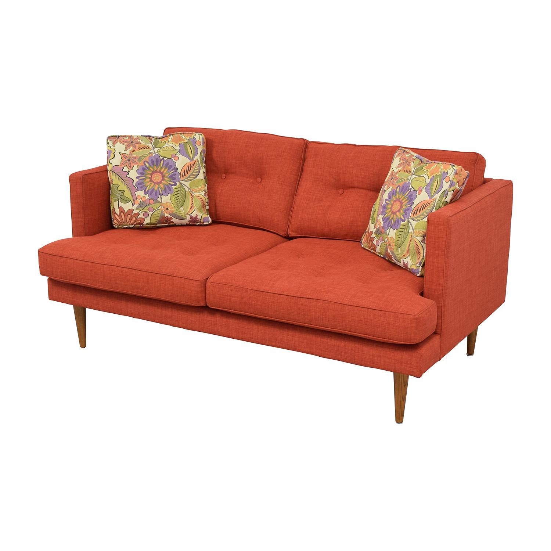 West Elm West Elm Mid-Century Heathered Weave Sofa used