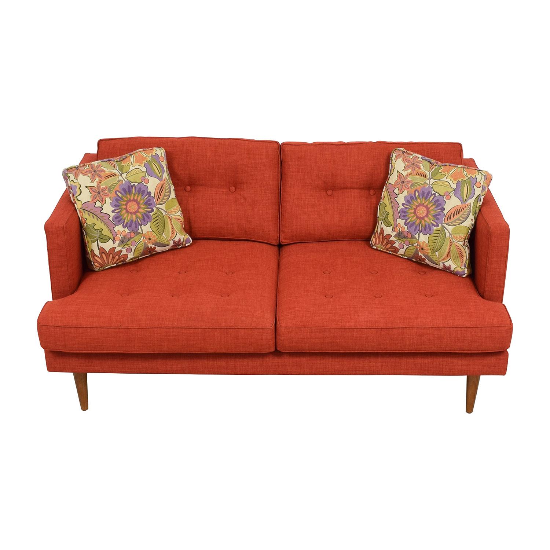 shop West Elm Mid-Century Heathered Weave Sofa West Elm Classic Sofas