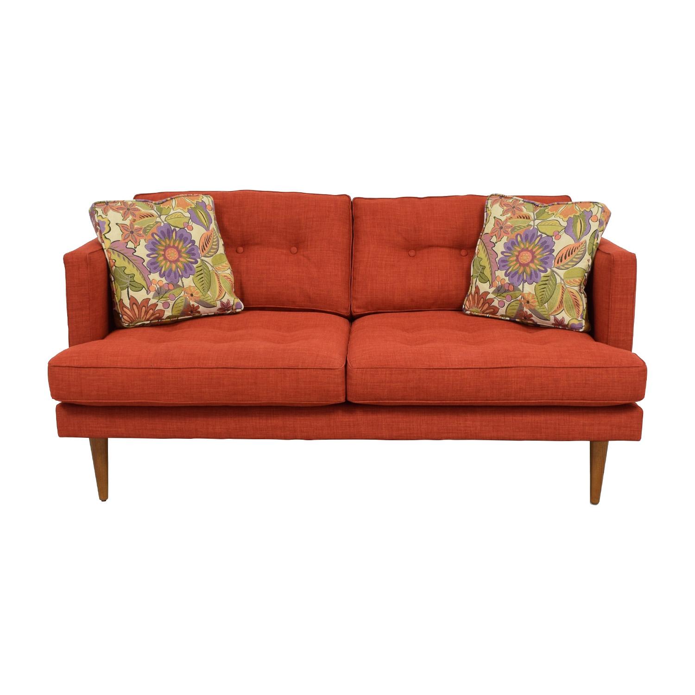 West Elm West Elm Mid-Century Heathered Weave Sofa on sale