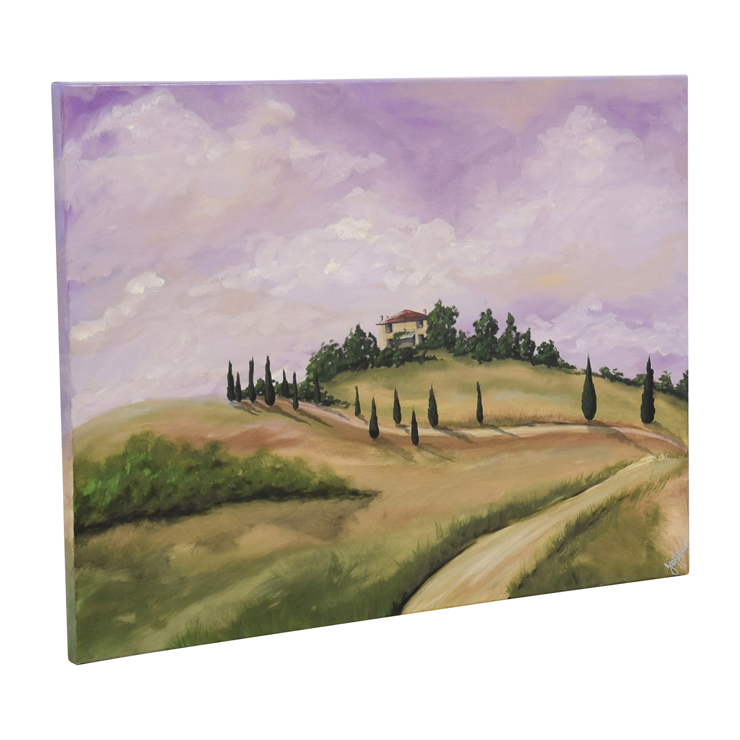 Tuscan Villa Oil Painting dimensions
