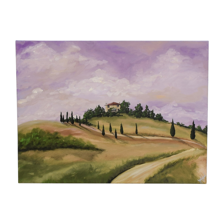 buy Tuscan Villa Oil Painting Wall Art