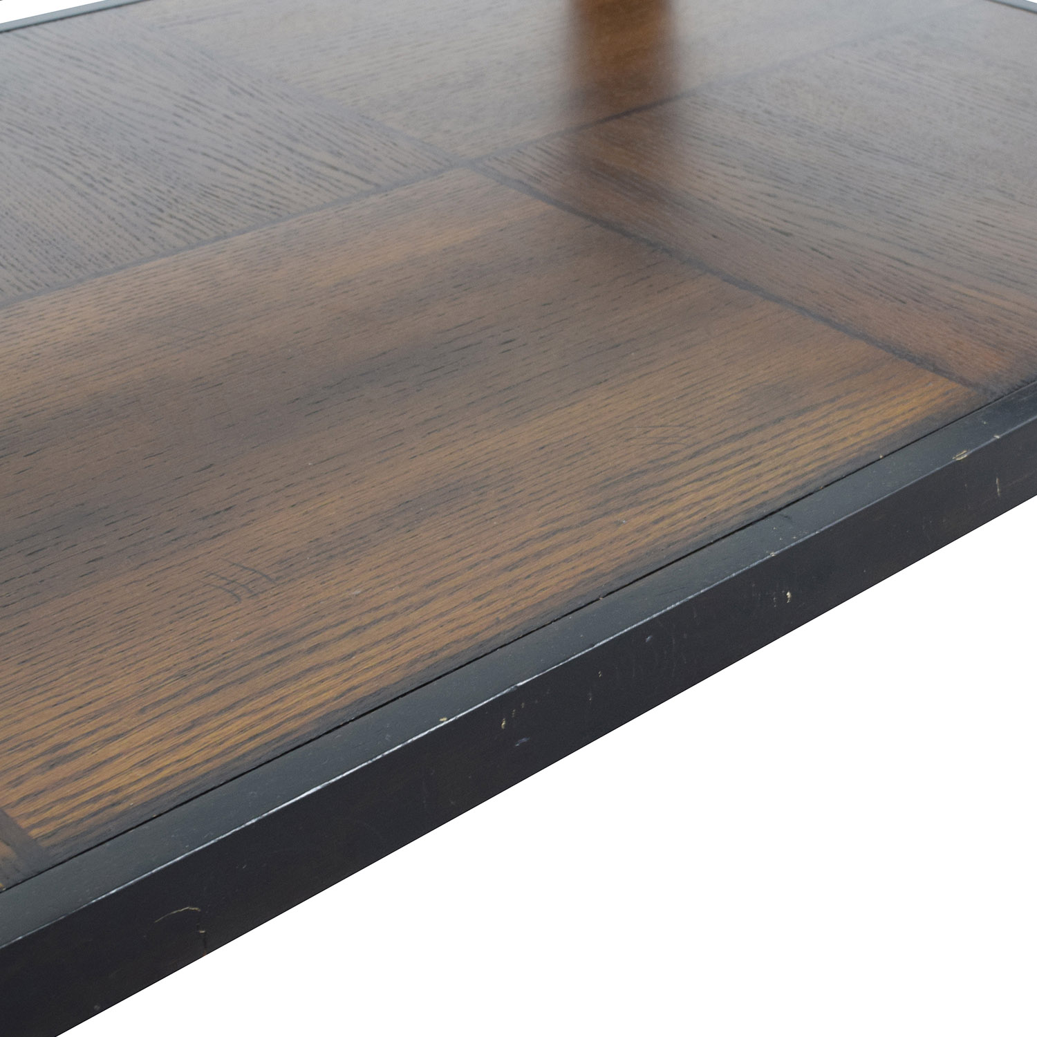 Macys Glass and Wood Coffee Table / Tables
