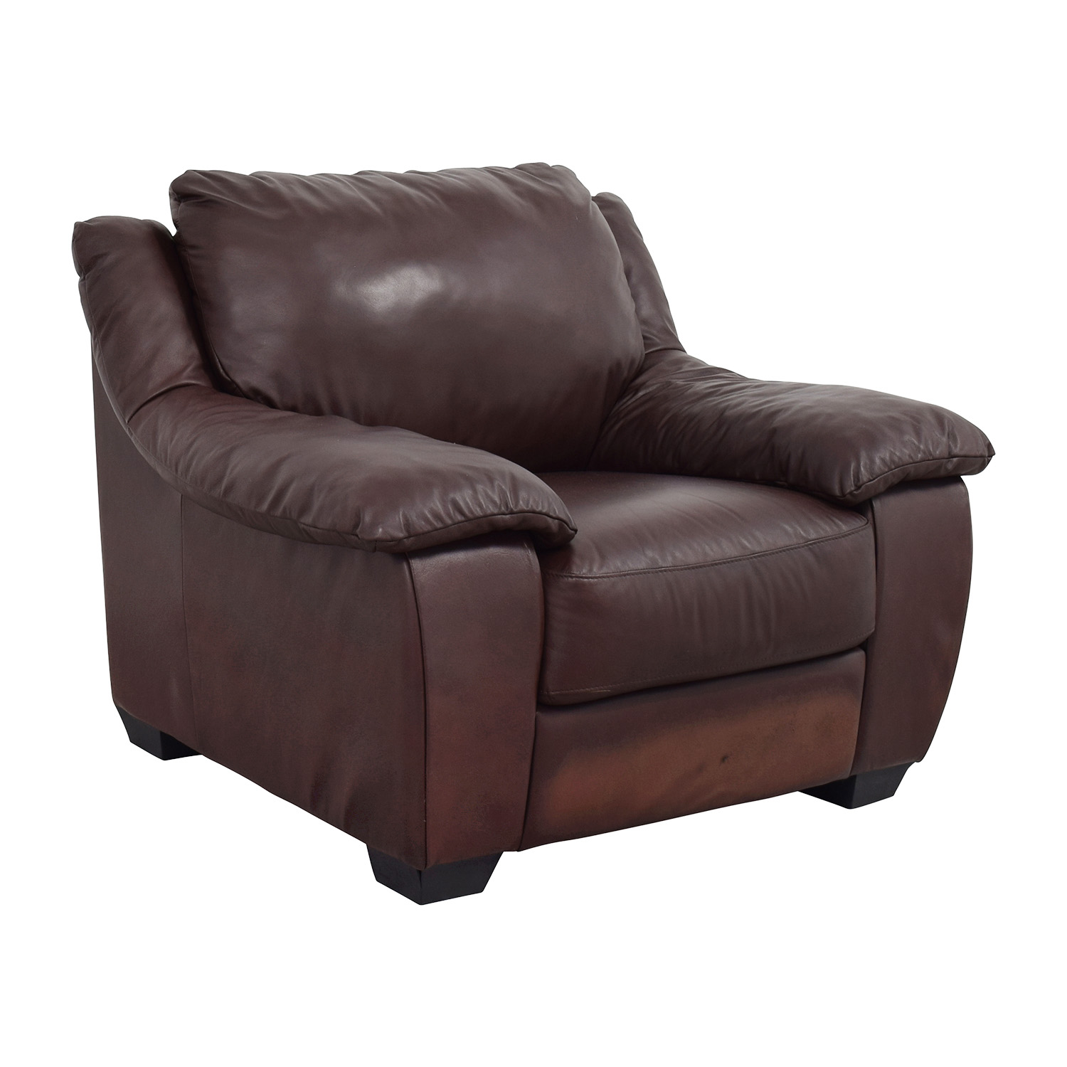 Italsofa Italsofa Brown Leather Plush Armchair used