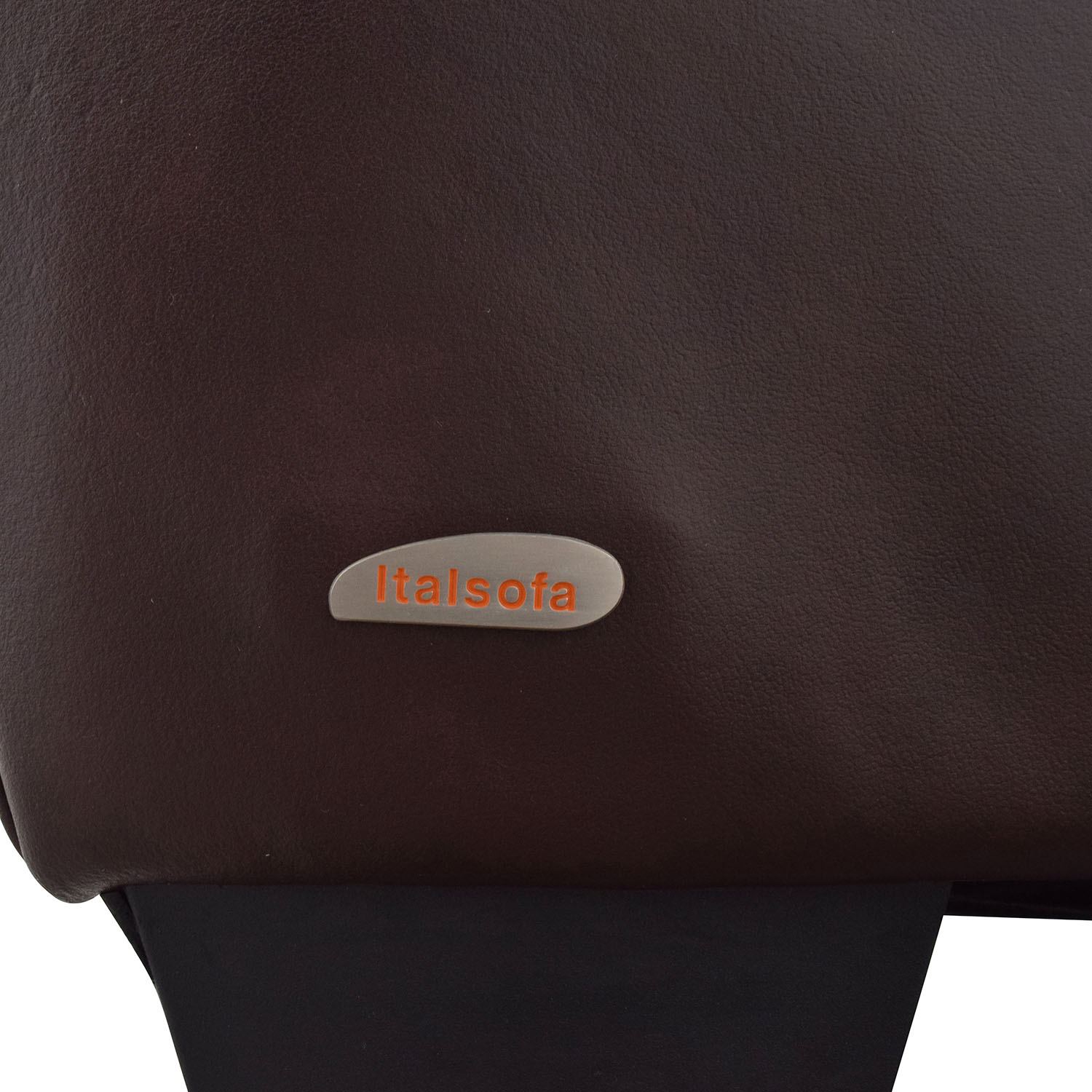 Italsofa Italsofa Brown Leather Plush Armchair Accent Chairs