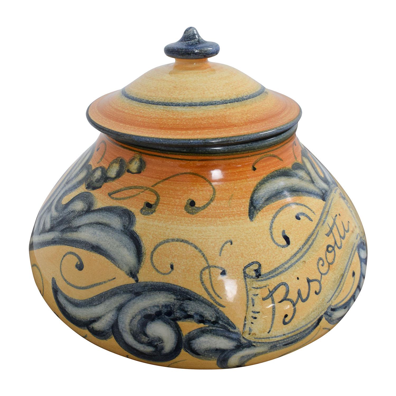 Vietri Vietri Affresco Biscotti Jar on sale