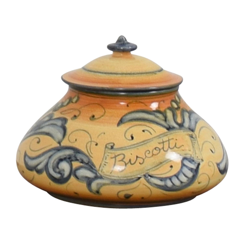 Vietri Affresco Biscotti Jar sale