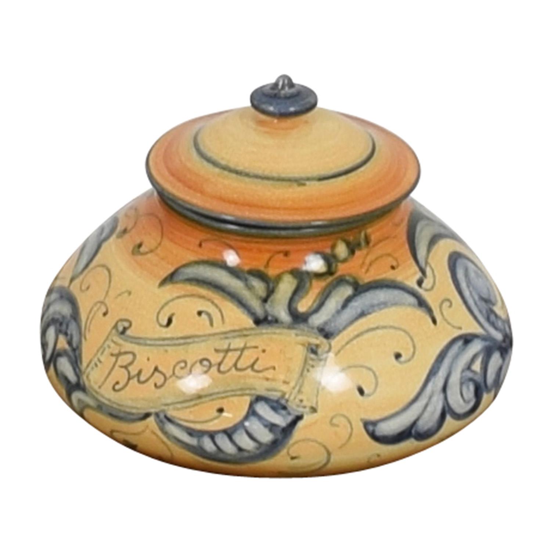 Vietri Vietri Affresco Biscotti Jar