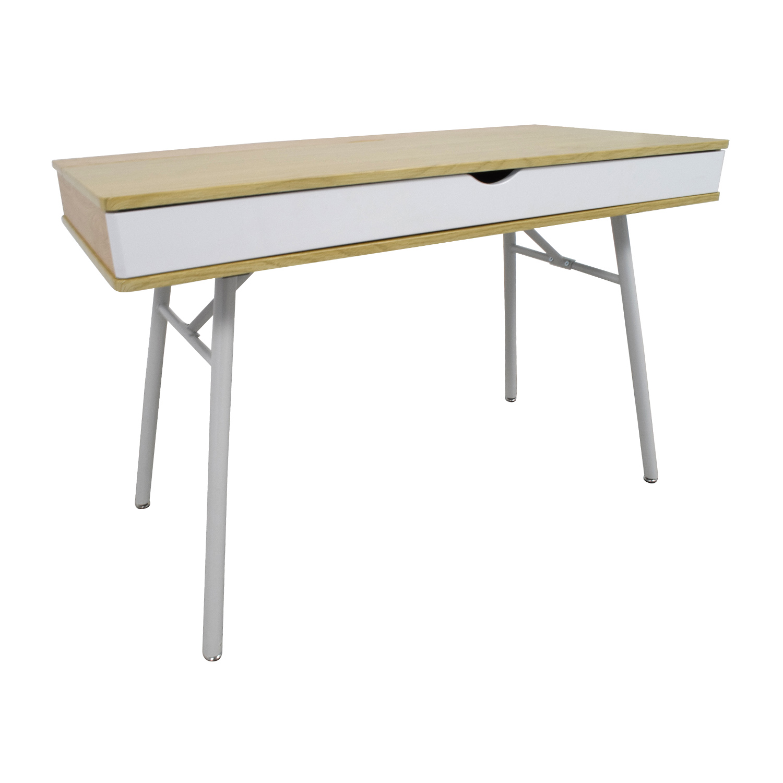 48 Off Ikea Ikea White Desk With Wide Storage Drawer
