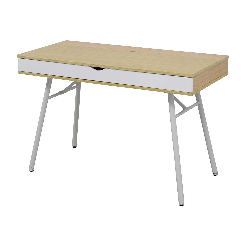 IKEA White Desk with Wide Storage Drawer sale
