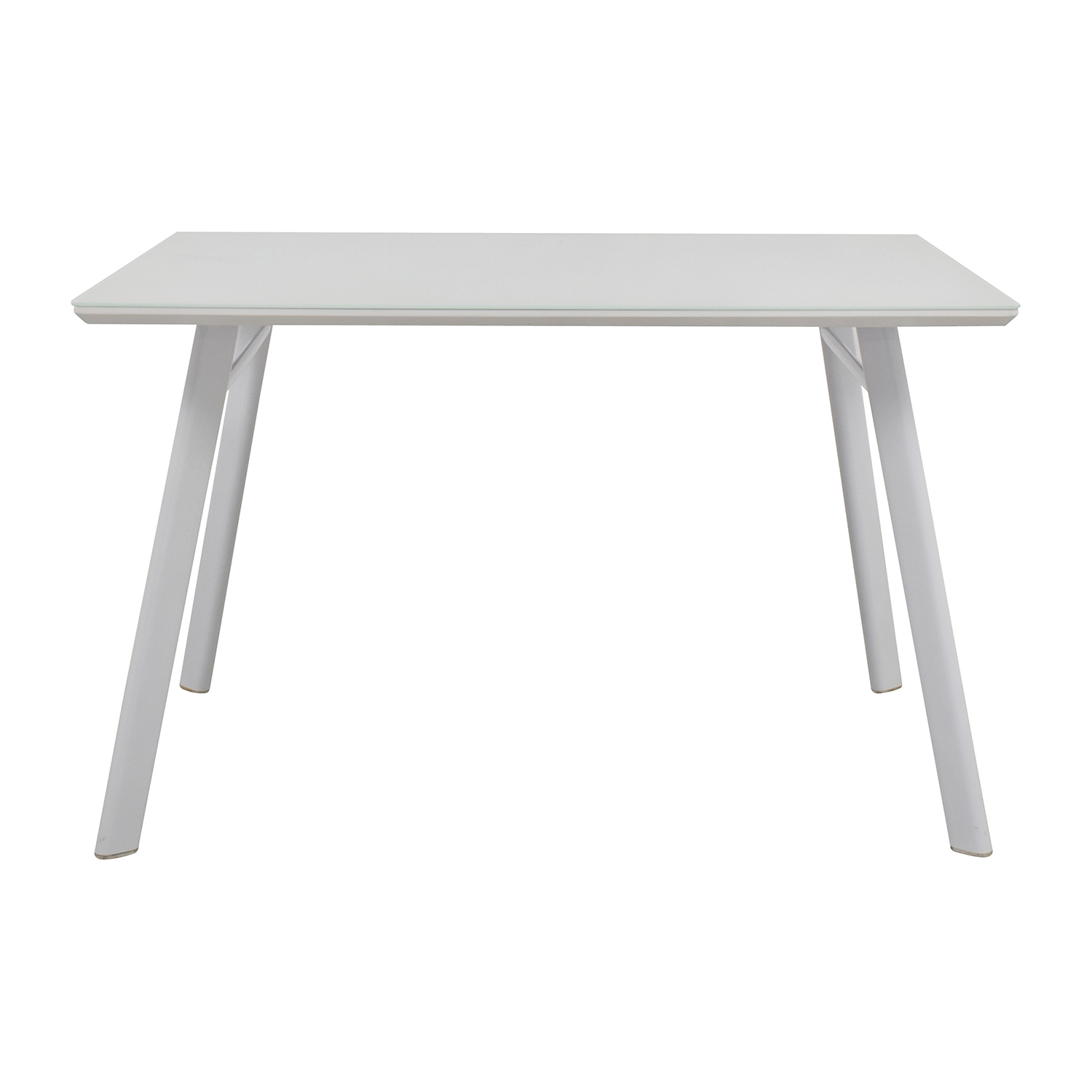 J&M J&M Furniture Height Dining Table white