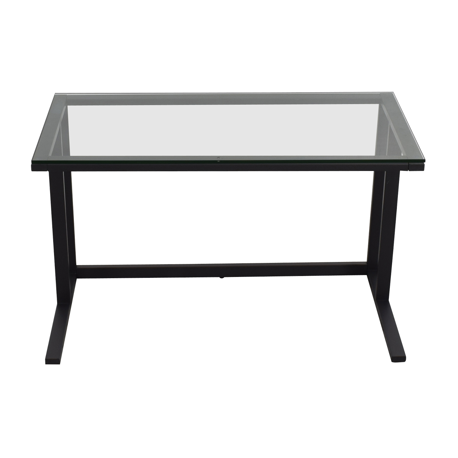 Crate & Barrel Pilsen Desk Graphite Grey Crate & Barrel