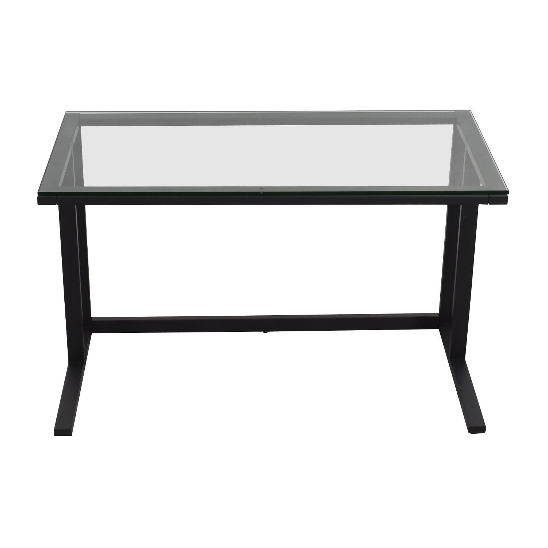 shop Crate & Barrel Pilsen Desk Graphite Grey Crate & Barrel Sofas