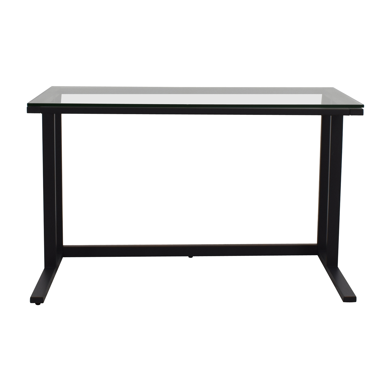 shop Crate & Barrel Pilsen Desk Graphite Grey Crate & Barrel Sofas