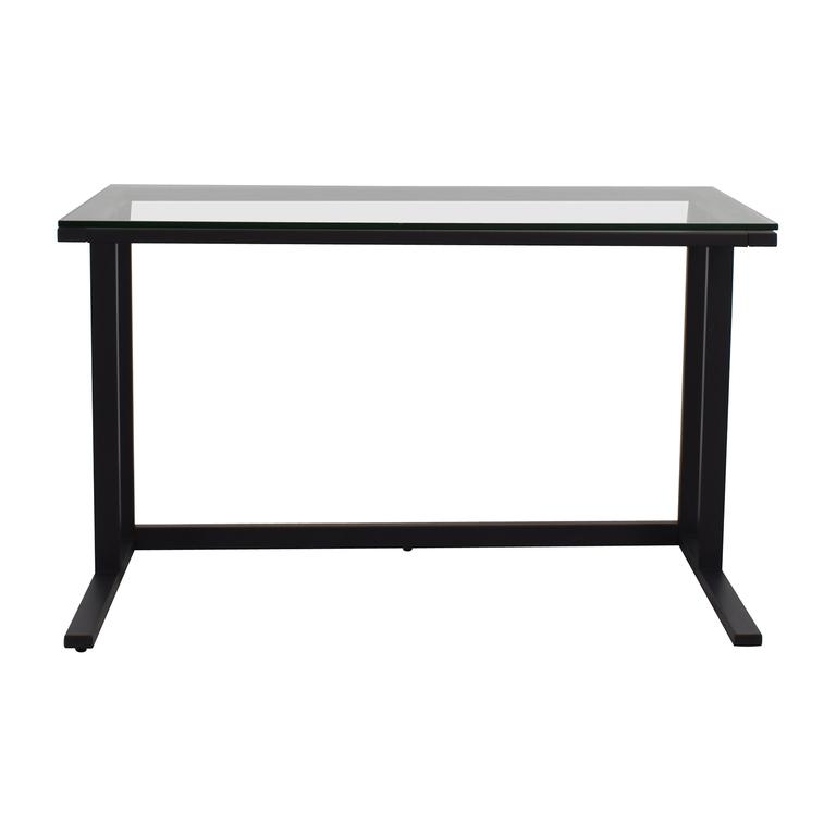 buy Crate & Barrel Crate & Barrel Pilsen Desk Graphite Grey online