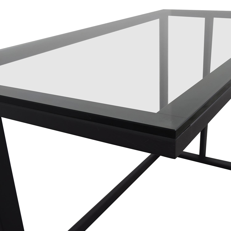Crate & Barrel Pilsen Desk Graphite Grey Crate & Barrel