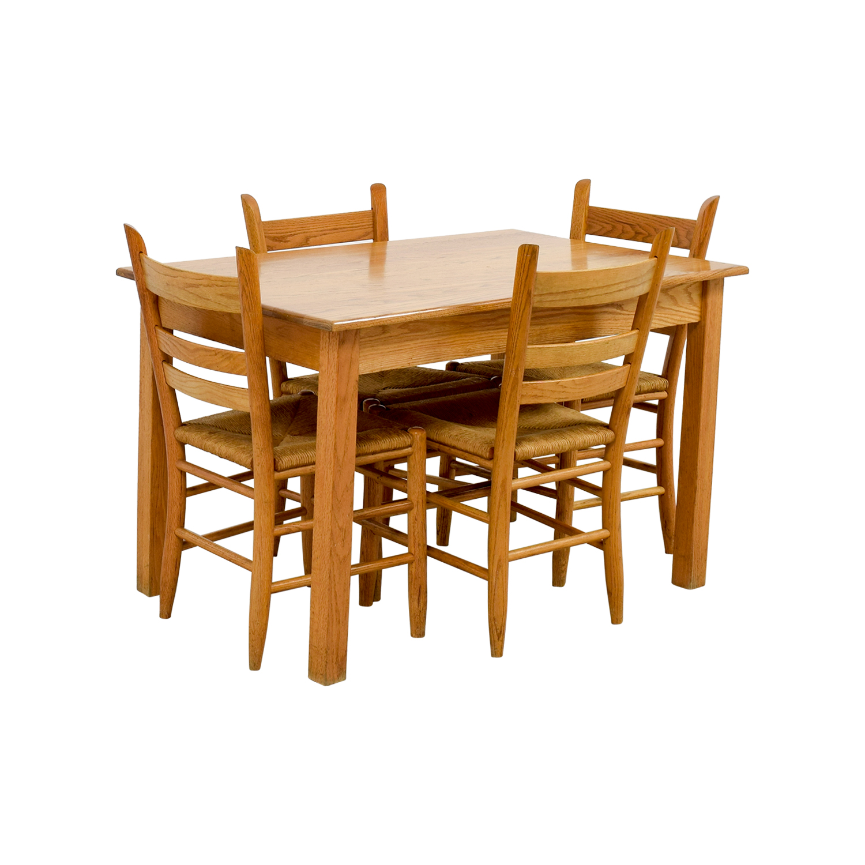 shop Crate & Barrel Rectangle Maple Wooden Dining Set Crate & Barrel Tables