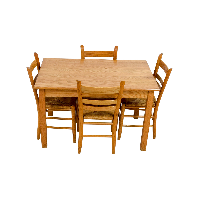 Crate & Barrel Crate & Barrel Rectangle Maple Wooden Dining Set Tables
