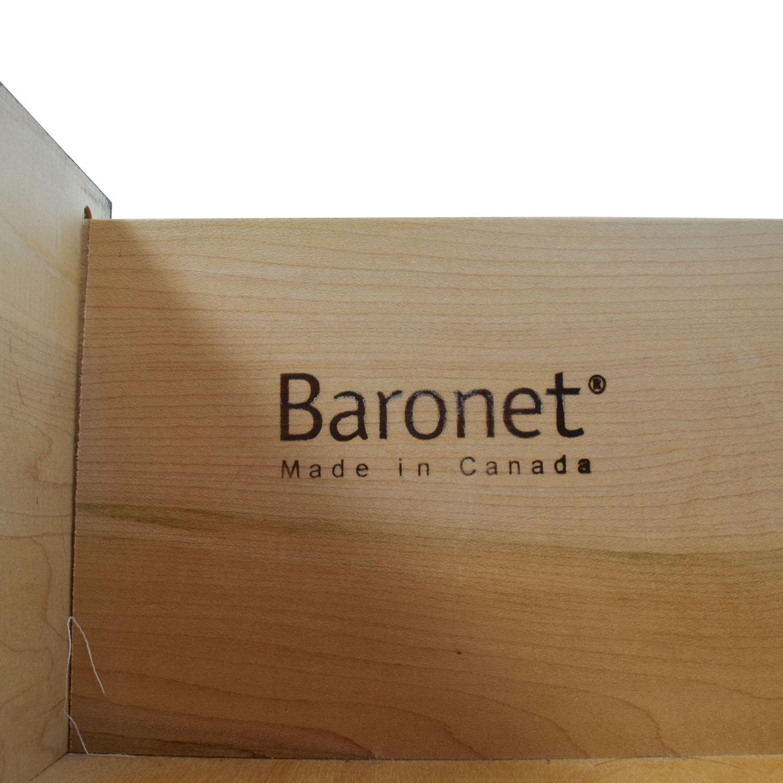 buy Crate & Barrel Two-Drawers Nightstand Crate & Barrel