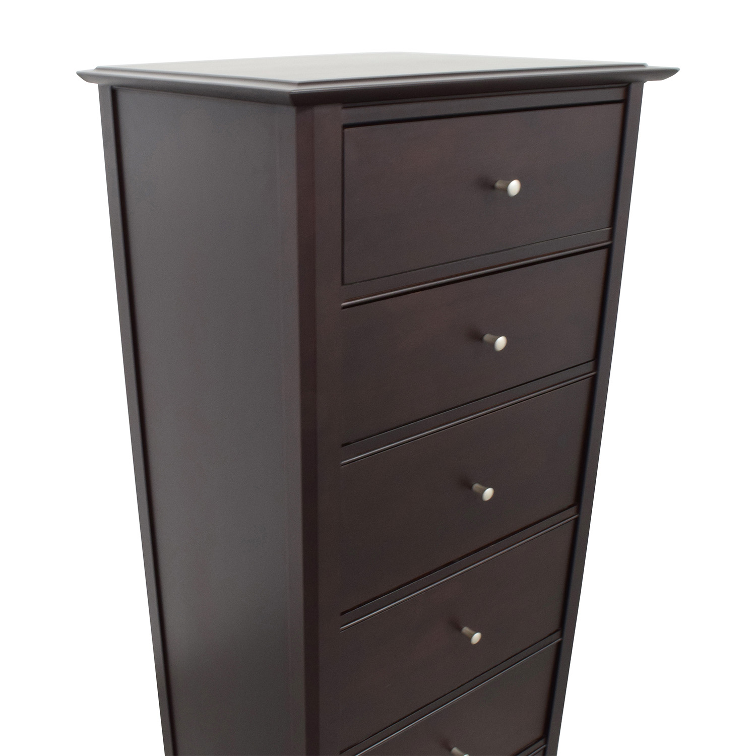 Crate & Barrel Crate & Barrel Six-Drawer Dresser in Dark Maple dimensions