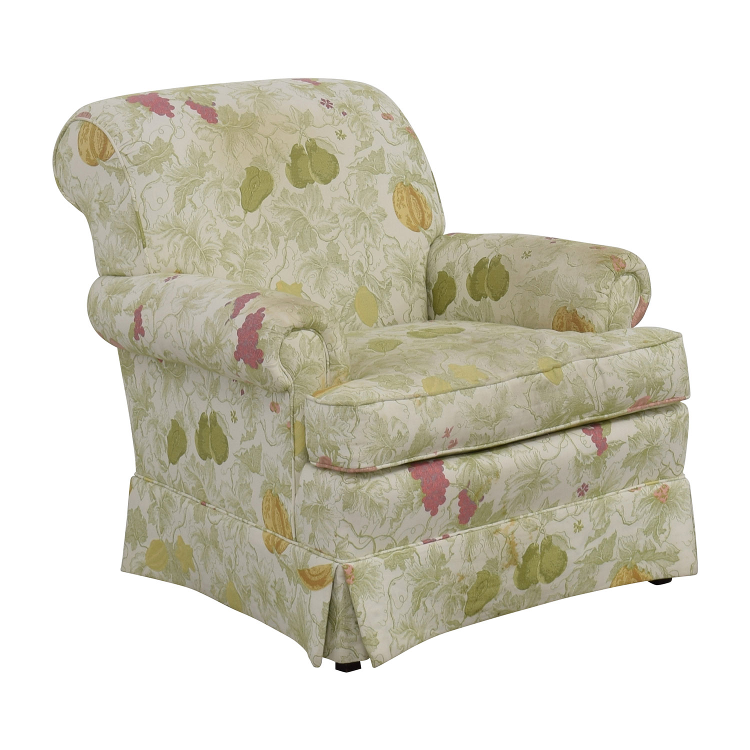 Sherrill Sherrill Fruit Patterned Accent Chair second hand