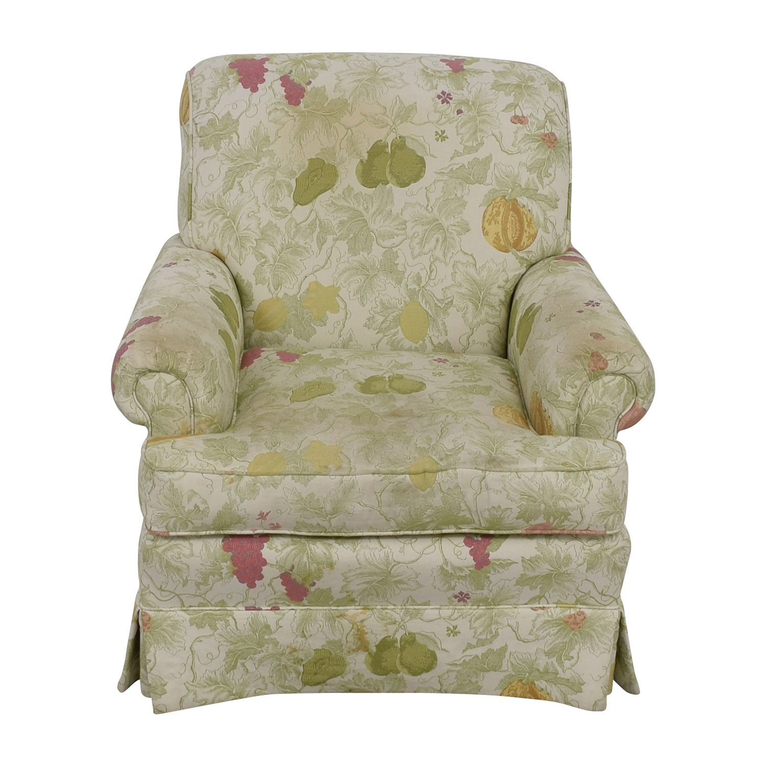 66% OFF Antique Accent Chair with Hole Caning Back Chairs