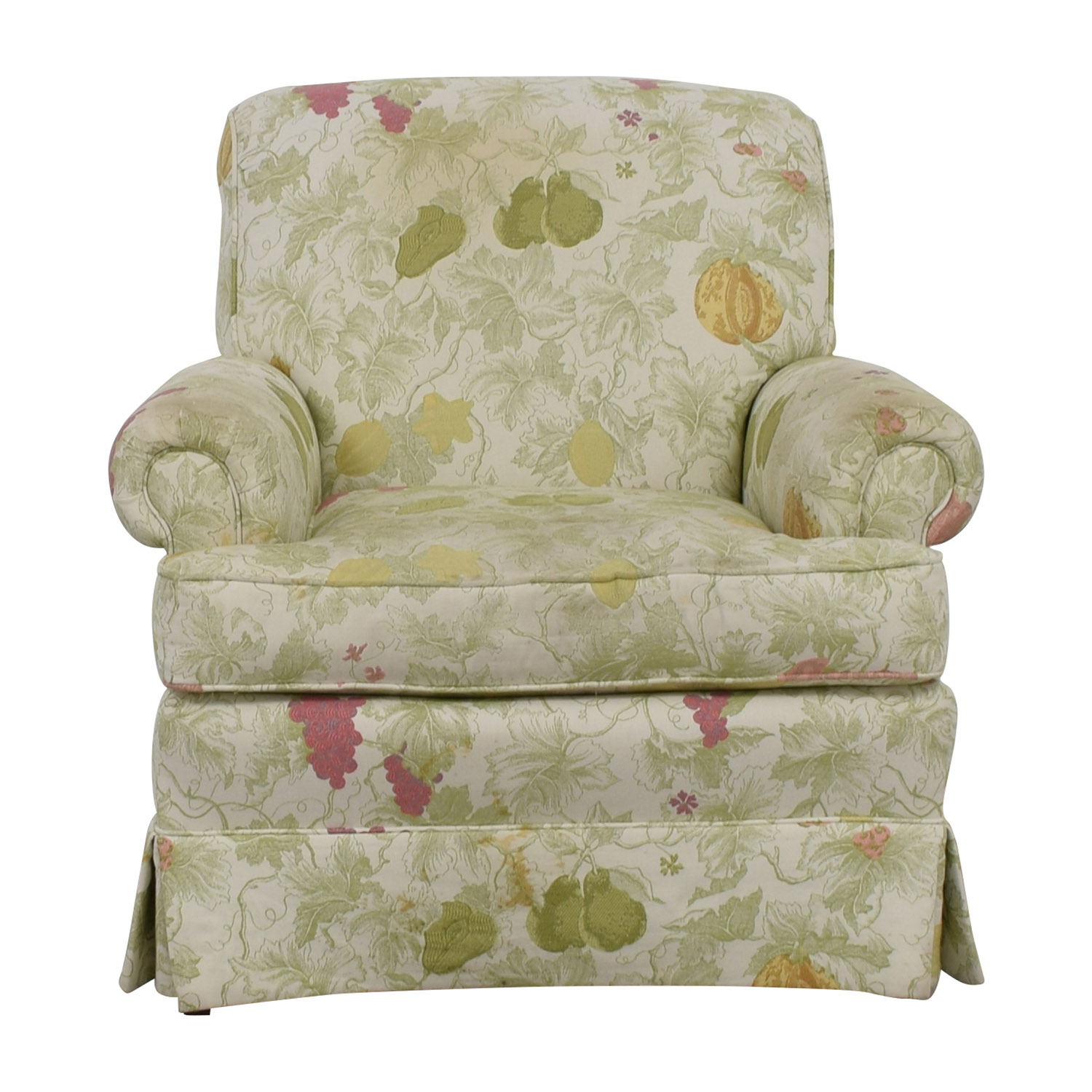 shop Sherrill Fruit Patterned Accent Chair Sherrill Accent Chairs