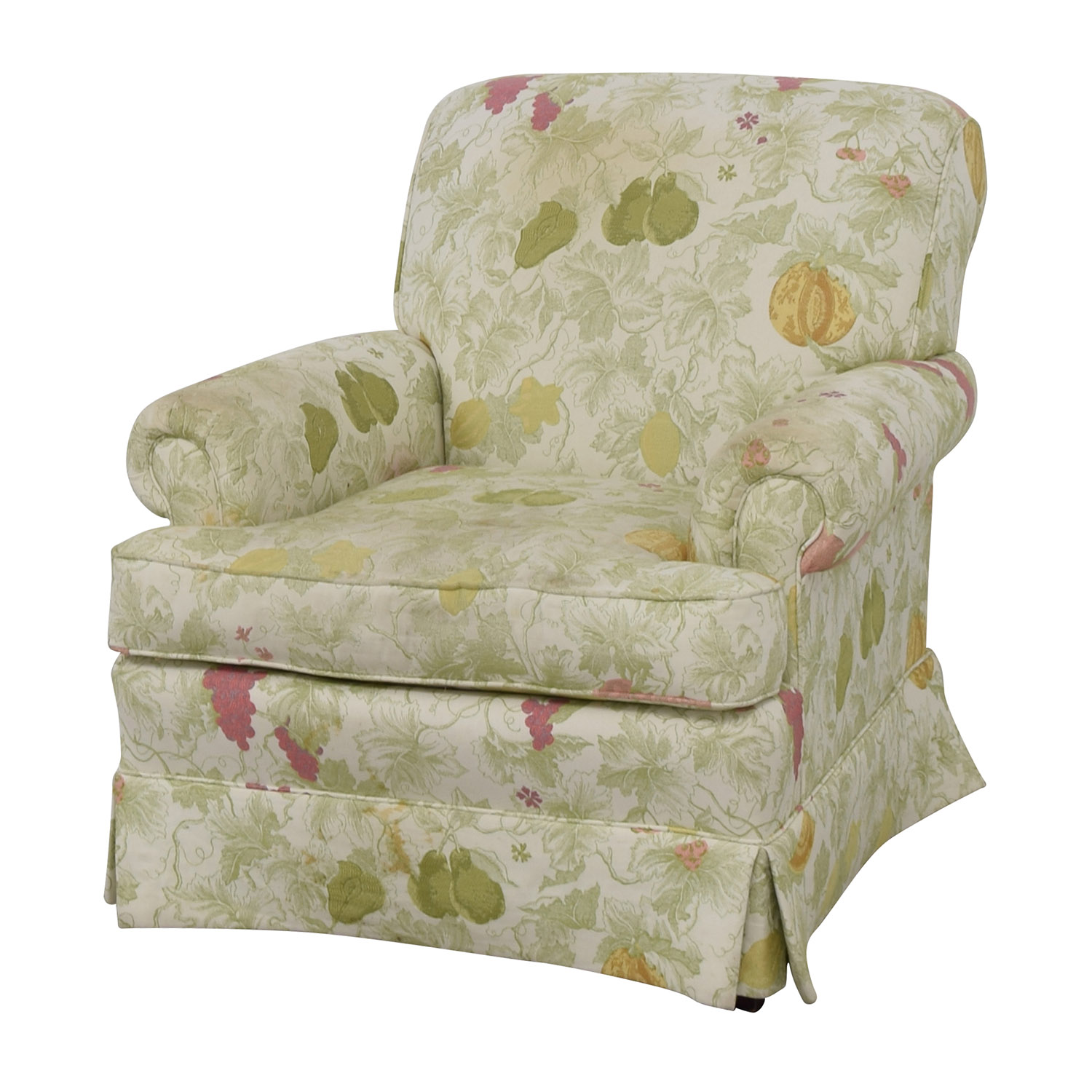 Sherrill Sherrill Fruit Patterned Accent Chair white/floral pattern