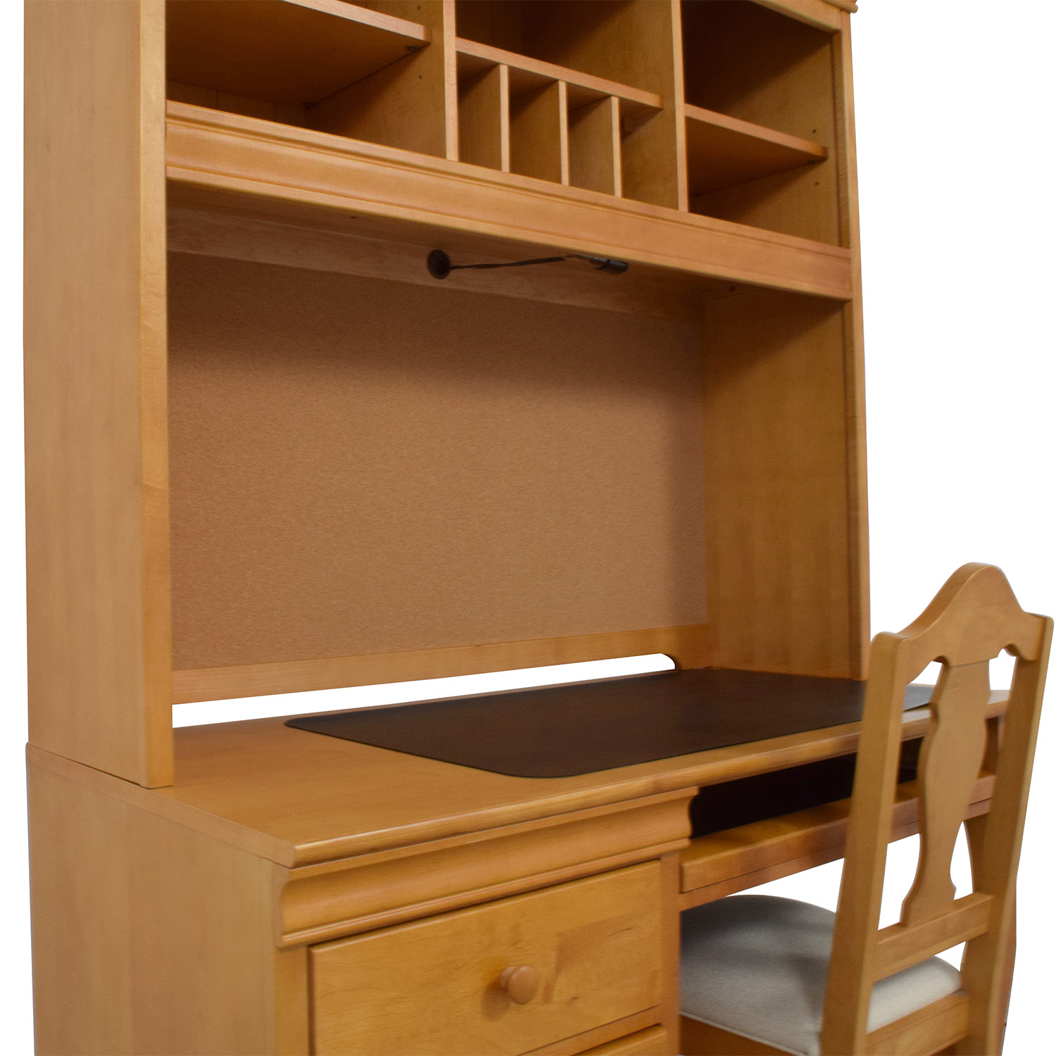 buy Stanley Furniture Stanley Furniture Custom Oak Wood Desk with Hutch and Chair online